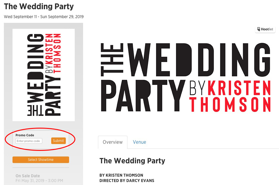 THE WEDDING PARTY - Arts Commons